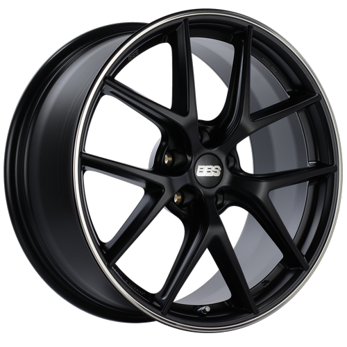 Black center, Polished stainless steel rim protector.