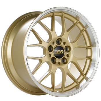 Gold painted center, diamond-cut rim, clear protective top coat.